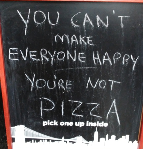 Sign outside of Previti Pizza