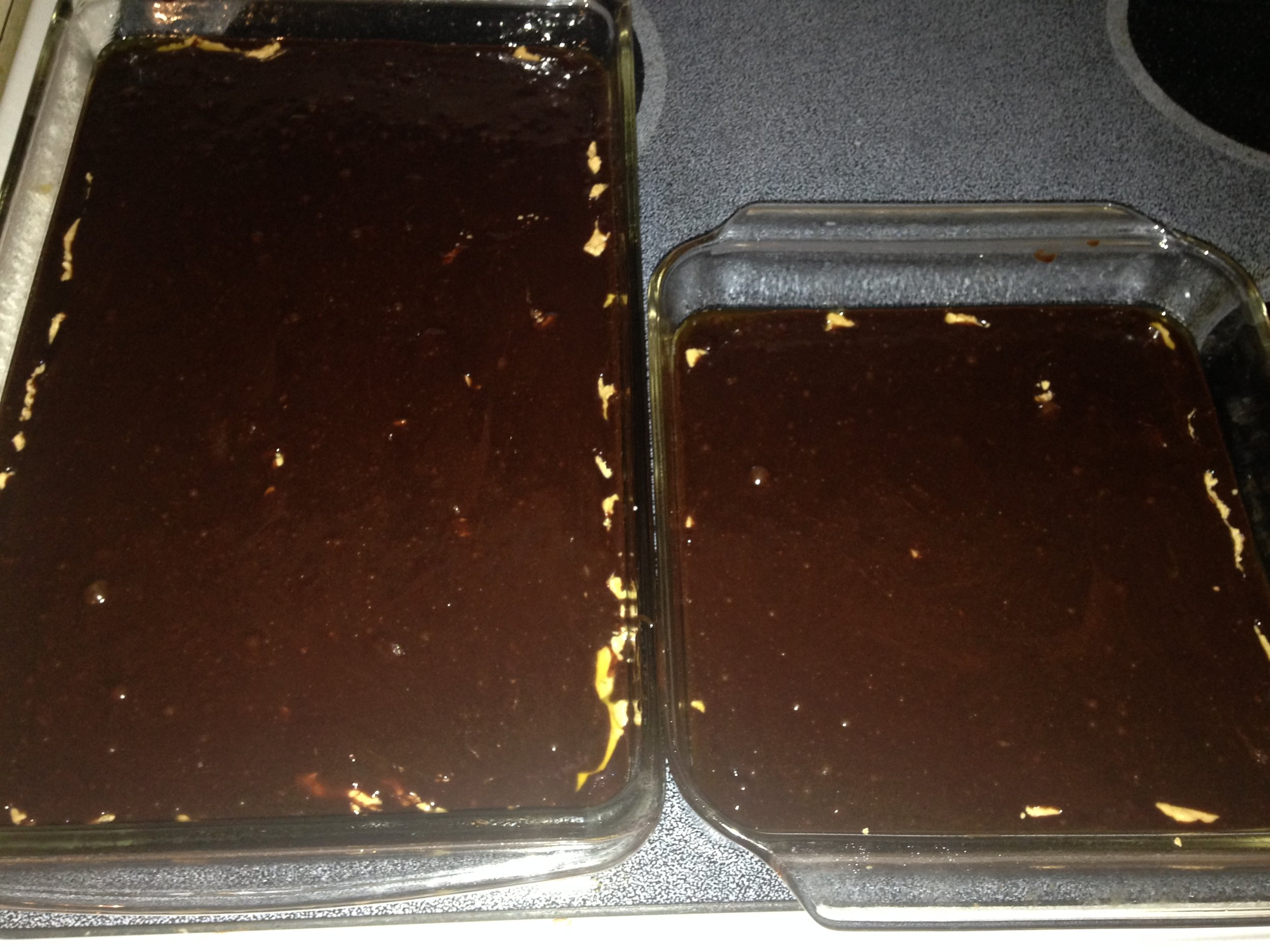 Carefully cover PB with batter