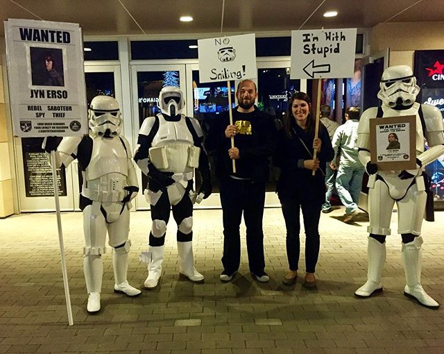 The 501st has things under control at Rogue One tonight #rebelscum #starwars #movealongmovealong #intoalargerworld