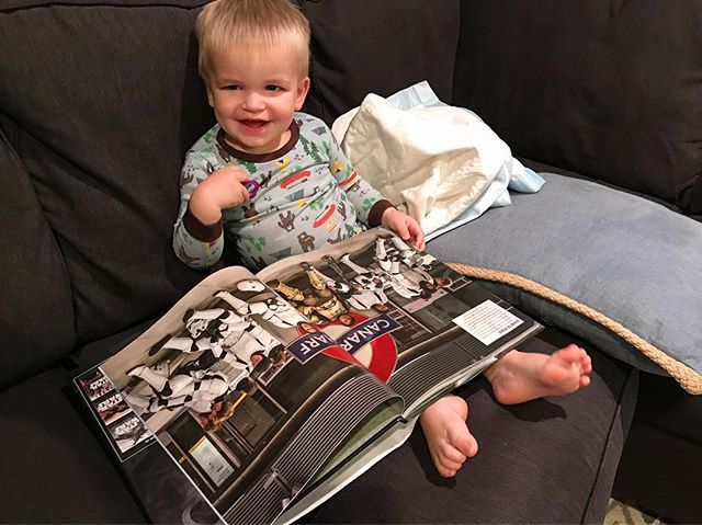My research assistant helps me prepare for the next episode 😂 #weewilliam #rogueone #visualguide #starwars #intoalargerworld