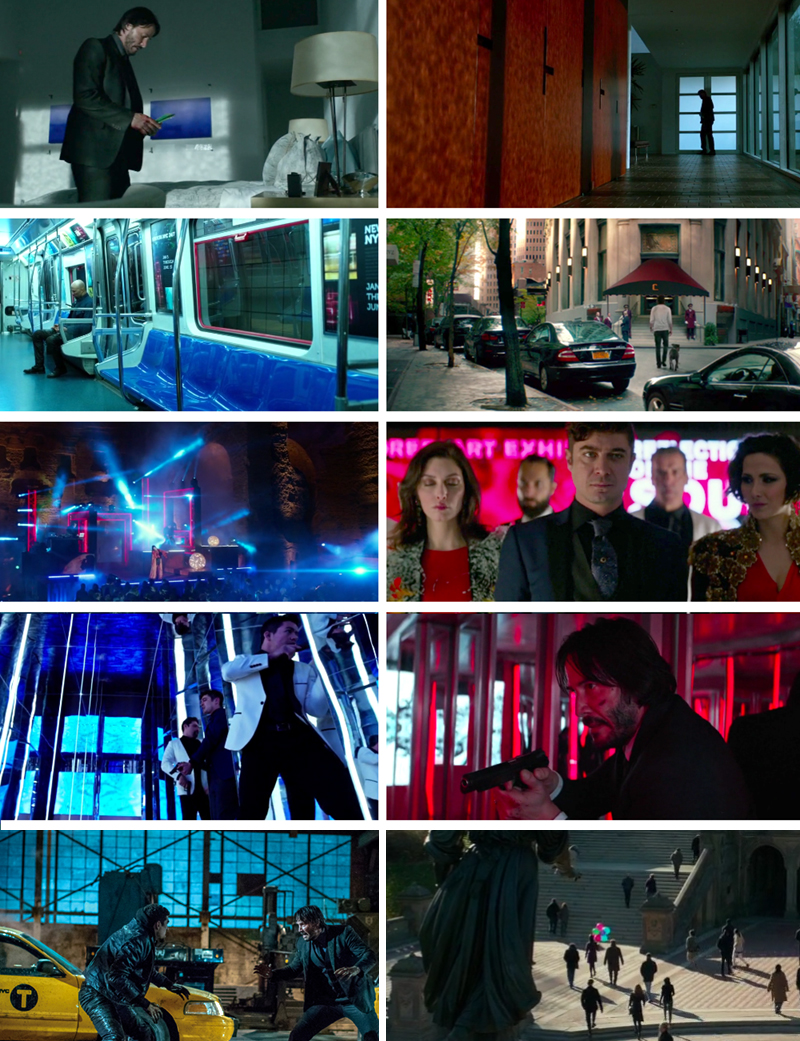 John Wick 2 Blue and Red