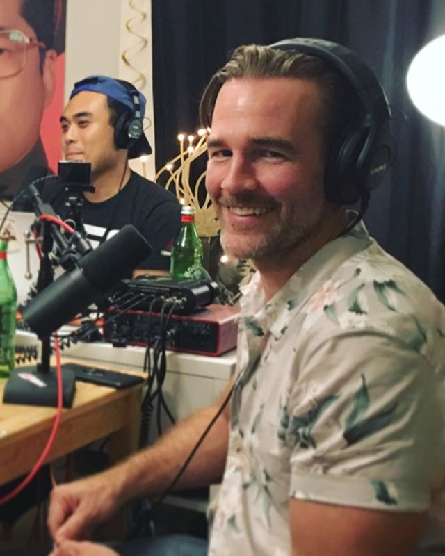 "Growing up I would hear things like, ""Damn you got those seductive Van Der Beek eyes!"" Or ""Oh my god James Van Der Beek has the exact same chest definition as you!"" It was so cool to finally meet my equal in life. @vanderjames"