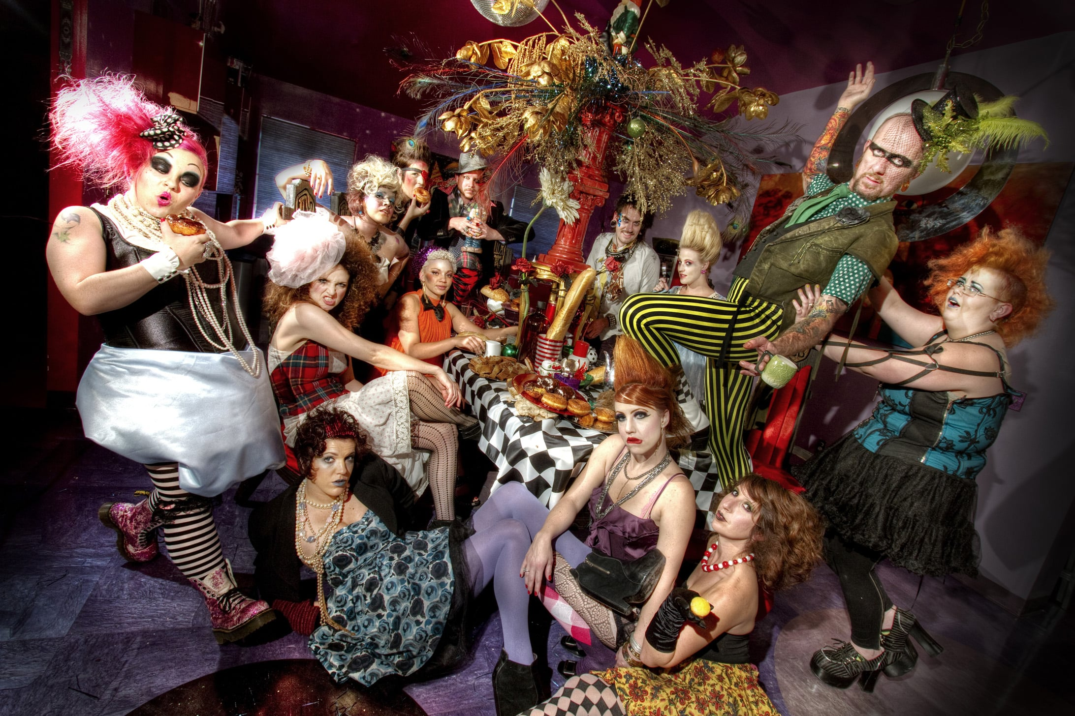 urban hair salon - mad hatter tea party promo