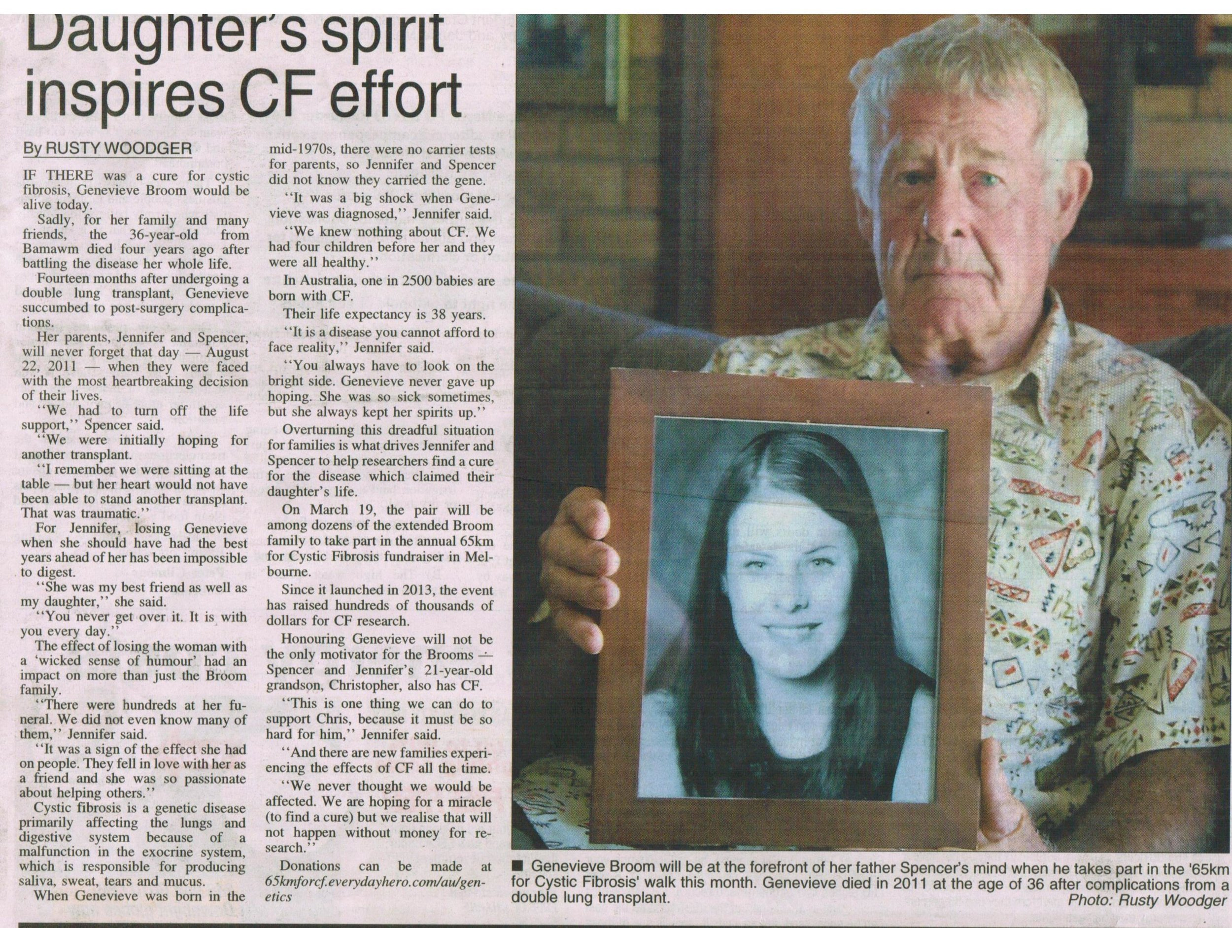 An article in the local Rochester paper - Campaspe News - 2016