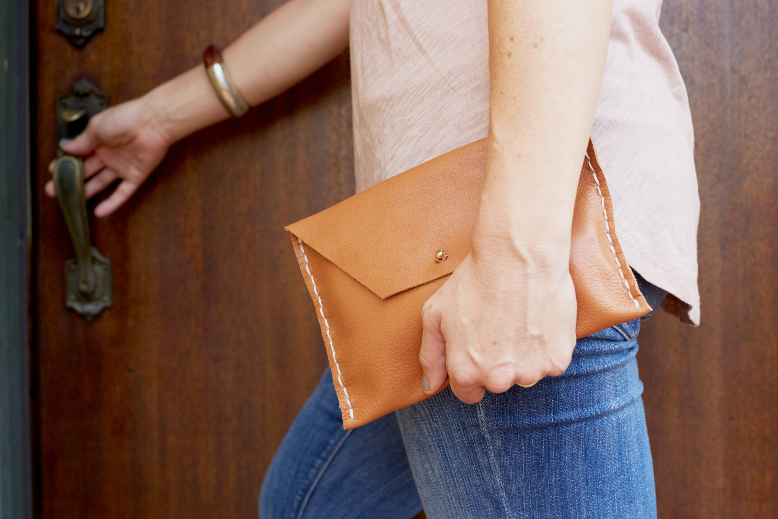 May 2016, Miranda Anderson Leather Clutch Workshop