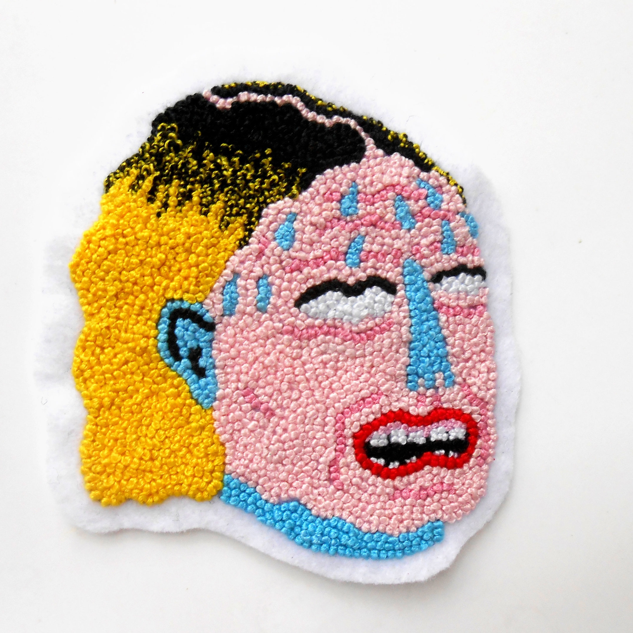 Patricia Larocque of Ffembroidery - Patricia Larocque is a Canadian embroidery artists currently struggling in Lyon, France. She works from her home studio which is really just her kitchen table let's be real. She currently enjoys creating anxiety ridden patches that are close to life representations of herself and her daily life. She enjoys being her own boss and hopes that one day she'll be about to quit her day job.