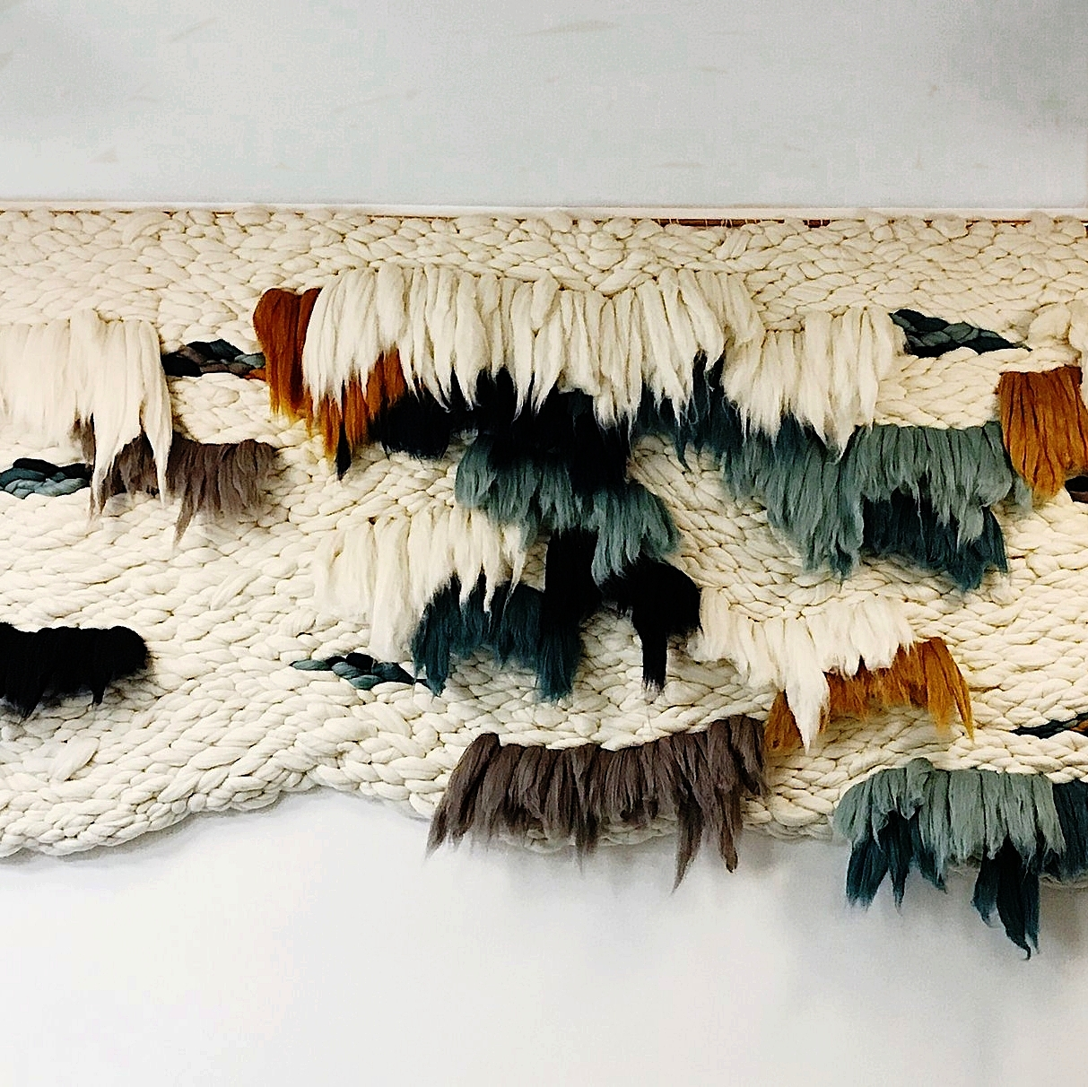 Meghan Bogden Shimek - Meghan Bogden Shimek is a fiber artist living and working in Oakland, California. Meghan is inspired by loss, movement, healing and the acknowledgment of uncomfortable feelings. She uses organic movements to intertwine raw fibers to create abstract and textural wall hangings and sculptural objects....