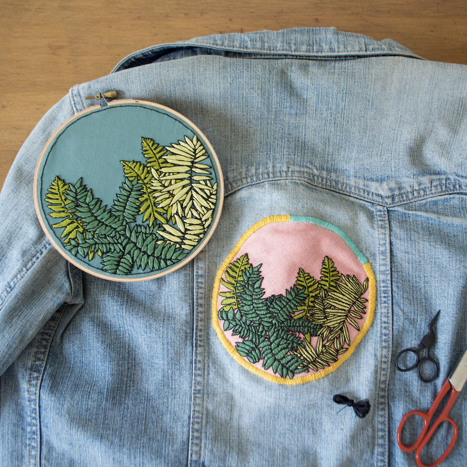 Step 5: Use satin stitch to complete your patch!