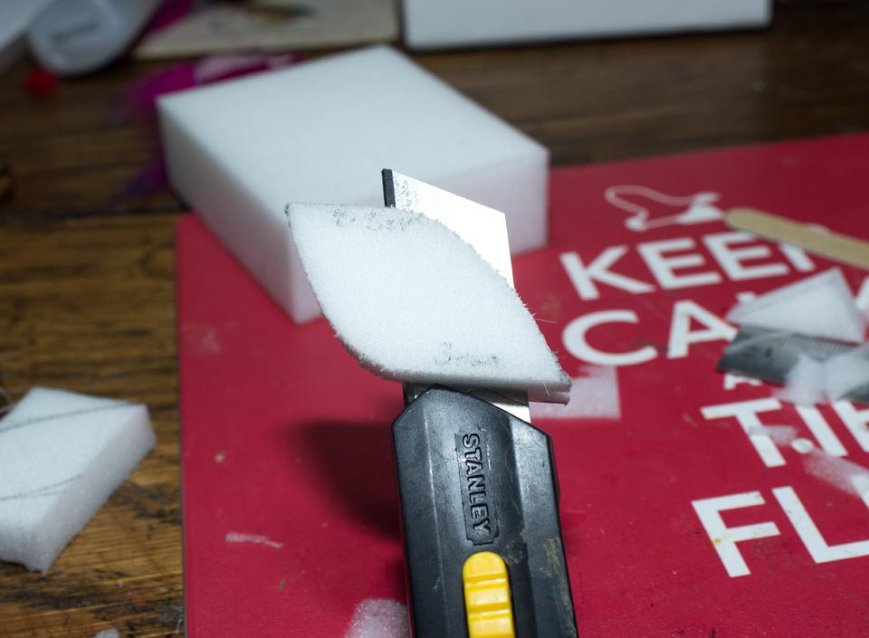 7) Cut in half