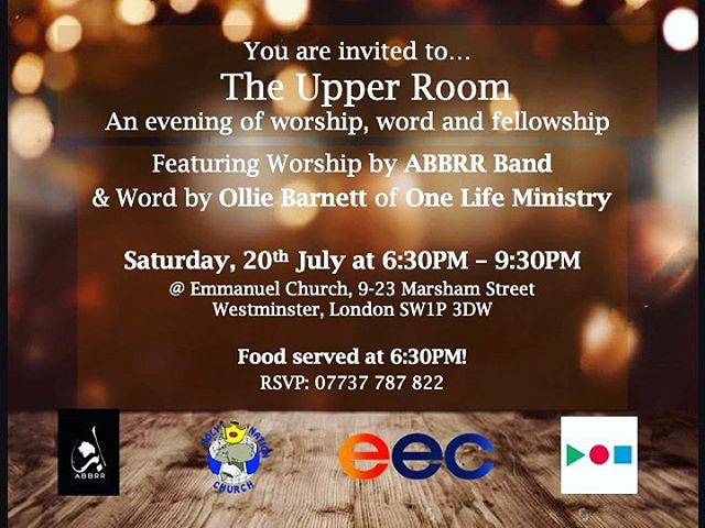 Hey All, we will be in Emmanuel Church  London today spending sometime in worship with our dear friends from @holynationchurch tonight.  If you guys are in the area please join us, we believe it will be a blessed evening of worship and God's word.  #LiveWorship #UpperRoom