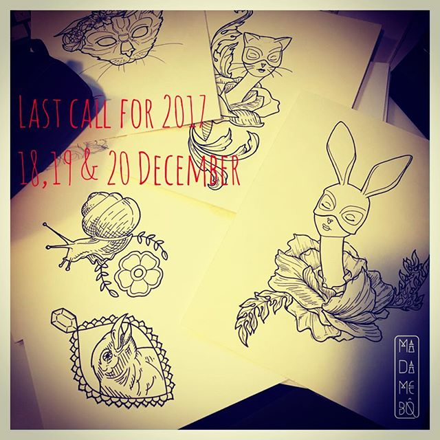 Get a #tattoo before #theend of #2017 ✨I still have time next 18th, 19th and 20th décembre 🤓contact me for medium #tattooproject or #flashtattoo ❄️#ink #tattoo #tattooartist #swisstattoo #colortattoo #blackworktattoo #graphictattoo #dotworktattoo #tattoedgirl #inkedgirl