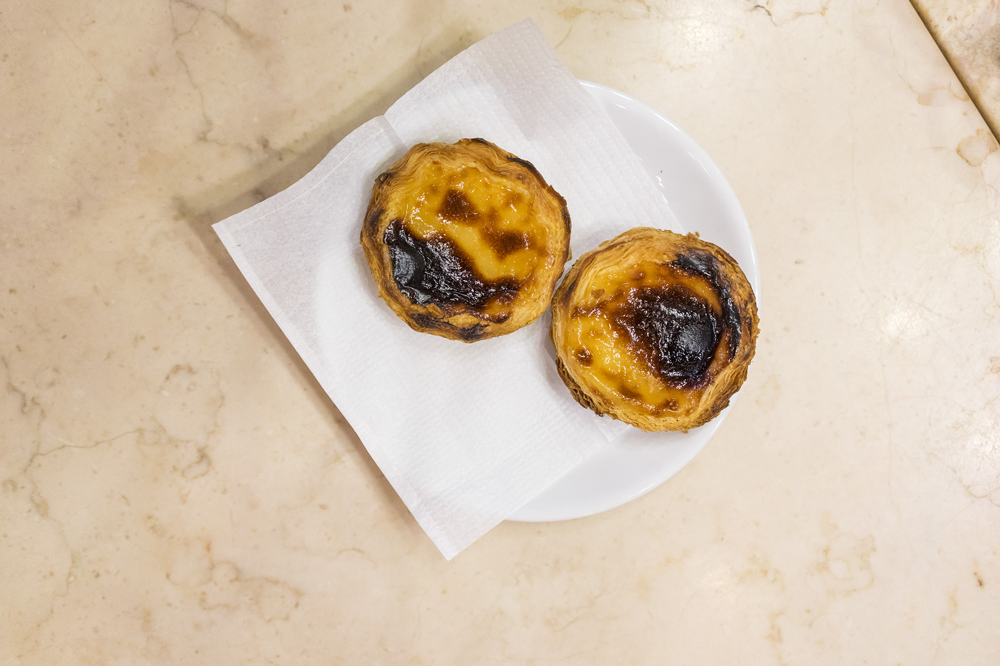 Pastel de natas at  A Brasileira