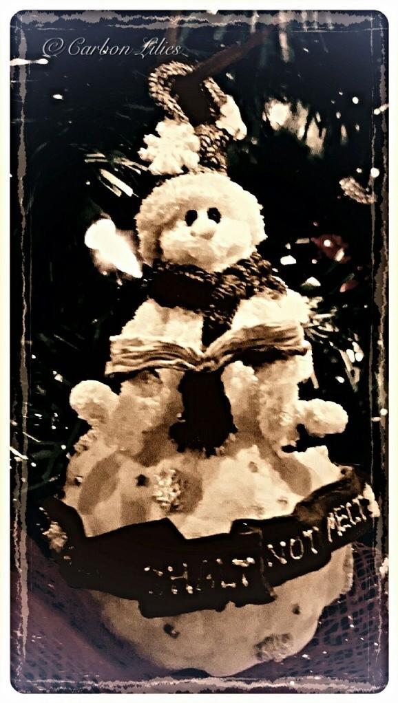 A Lilies' Family ornament... Muppet Snowman - Thou shalt not melt