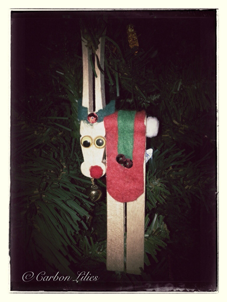 A homemade ornament from John's youth... Reindeer Games