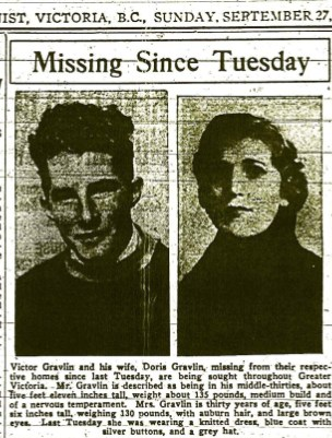 News account of Doris Gravin disappearance