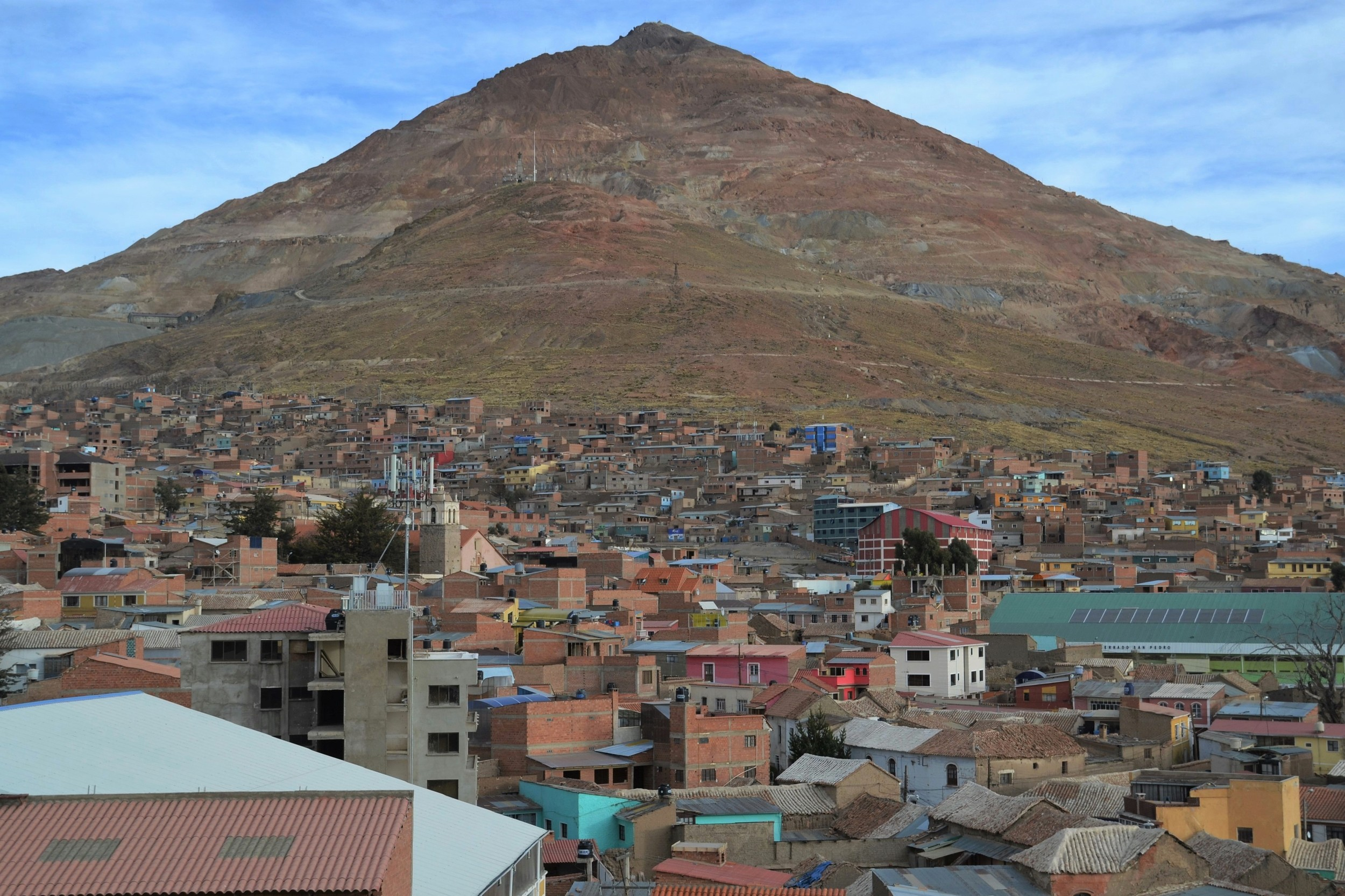 The city of Potosi, and Cerro Rico overlooking it.