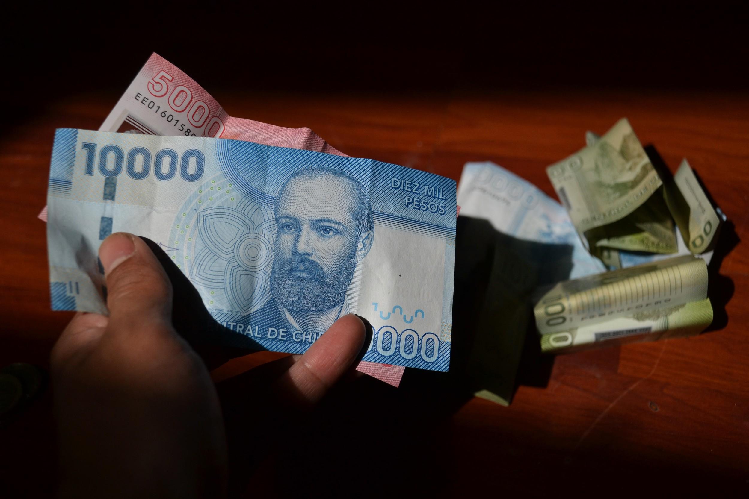 Chilean money.