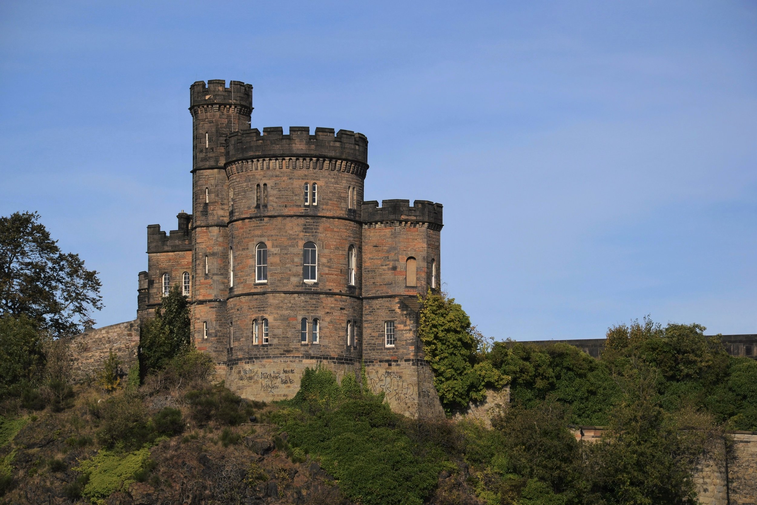 One of Edinburgh's many other castle-y looking things .