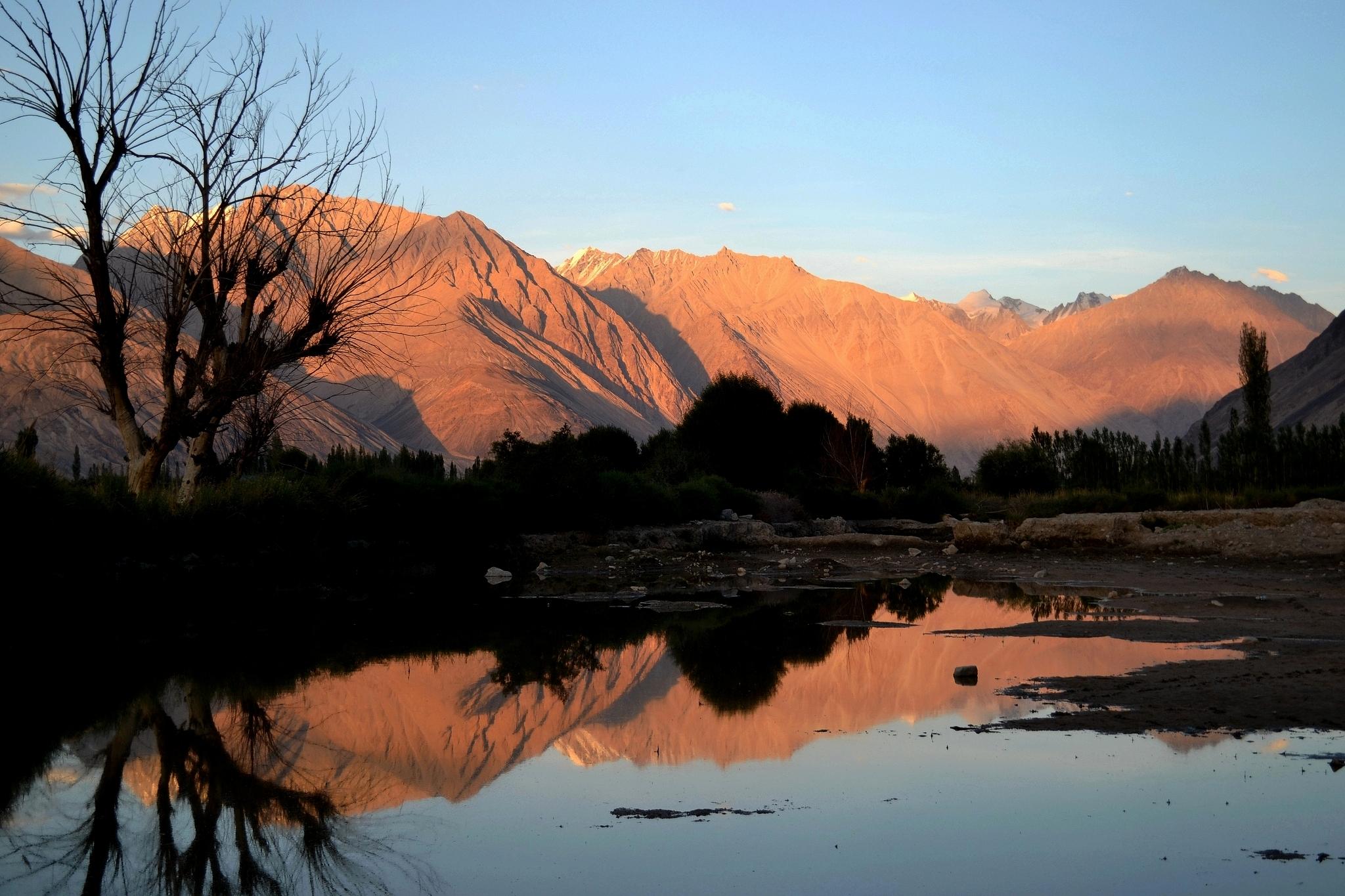 Sunset in Nubra Valley, India