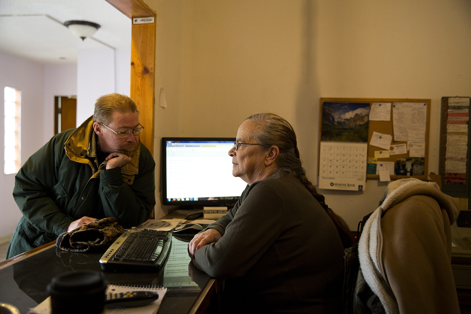 """Karen Fliger works as a front desk clerk at the the Bel-Aire Motel. She and her husband,Franklin Fite,who have been residents for nearly eight years,learned from media reports this week the building will be demolished. """"Nobody knows what's going on."""""""