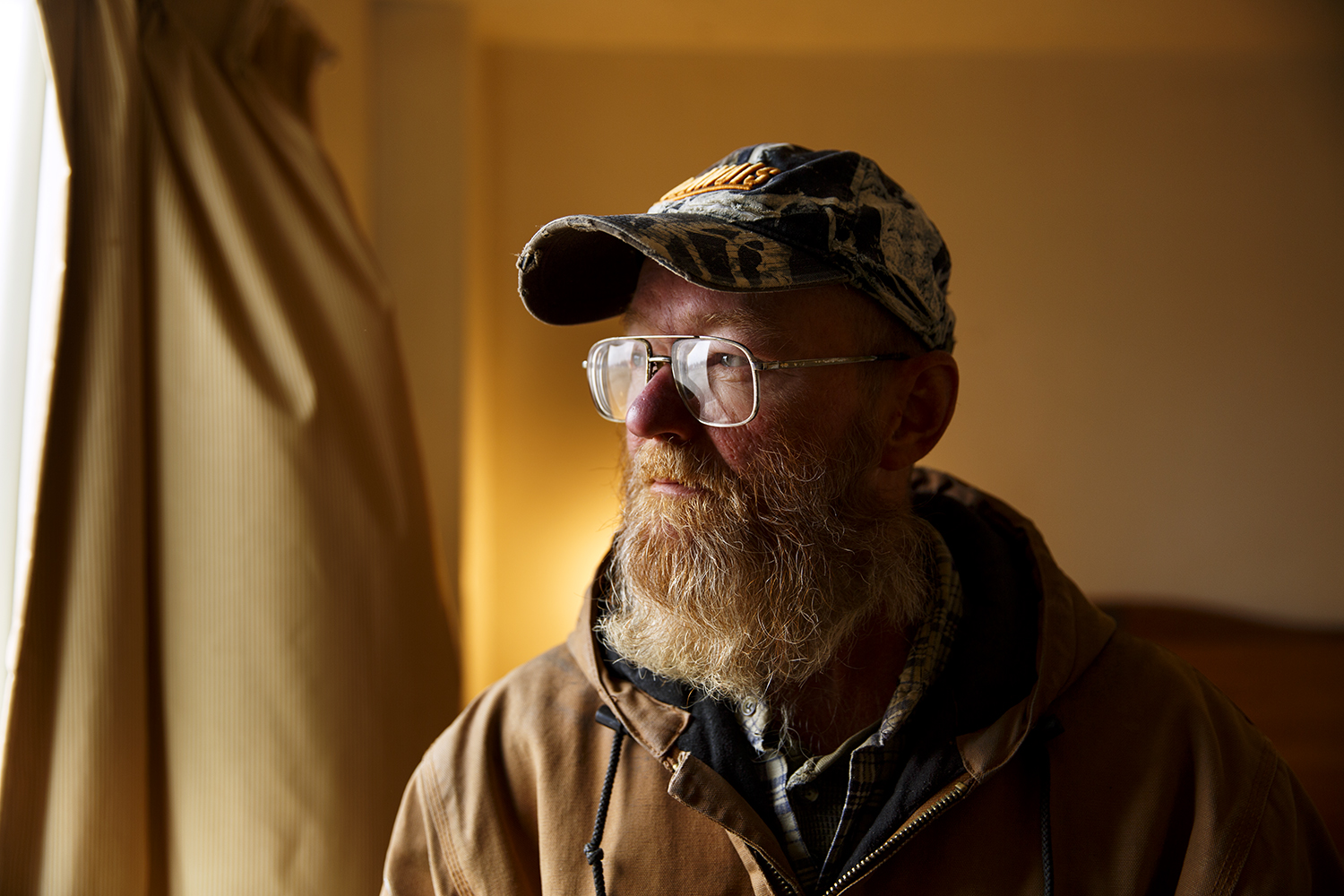 John Hanson moved in to the Bel-Aire in June. A military veteran and retired truck driver, he has been working as a maintenance man at the motel.