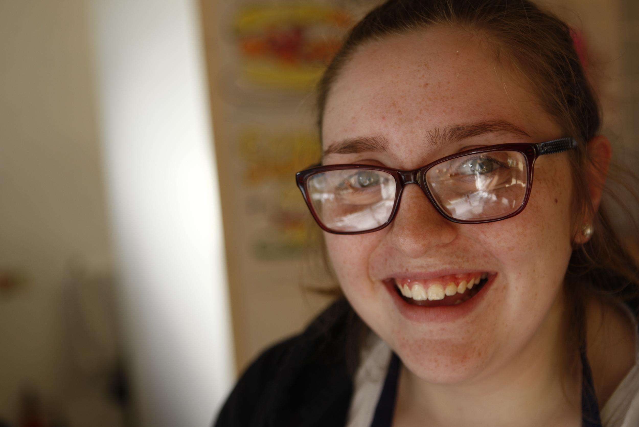 Georgie is one of our students working at St Pio's Cafe, she is studying hard and wants to go into teaching, she is a fantastic cook in the kitchen and her 'Billionare Shortbreads' are to die for!!