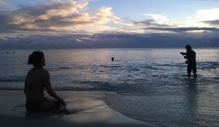 Filming the travel series Haapasalo Goes on Vacation on beautiful Barbados