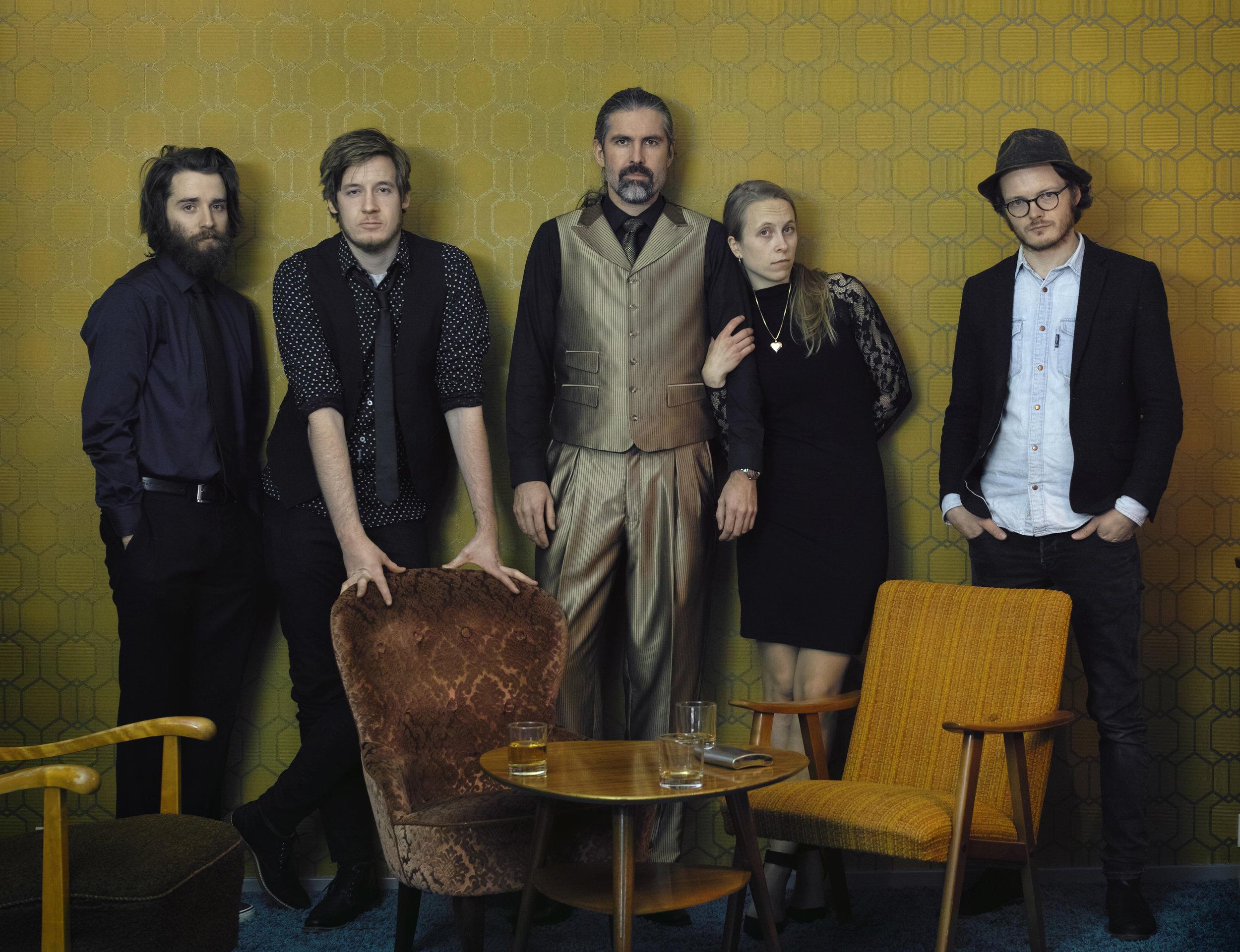 Photo: Roald Sundal From Left: Lars Håvard Birkenes, Knut Heggdal, Vidar Vedå, Cecilie Anna, Endre Olsen