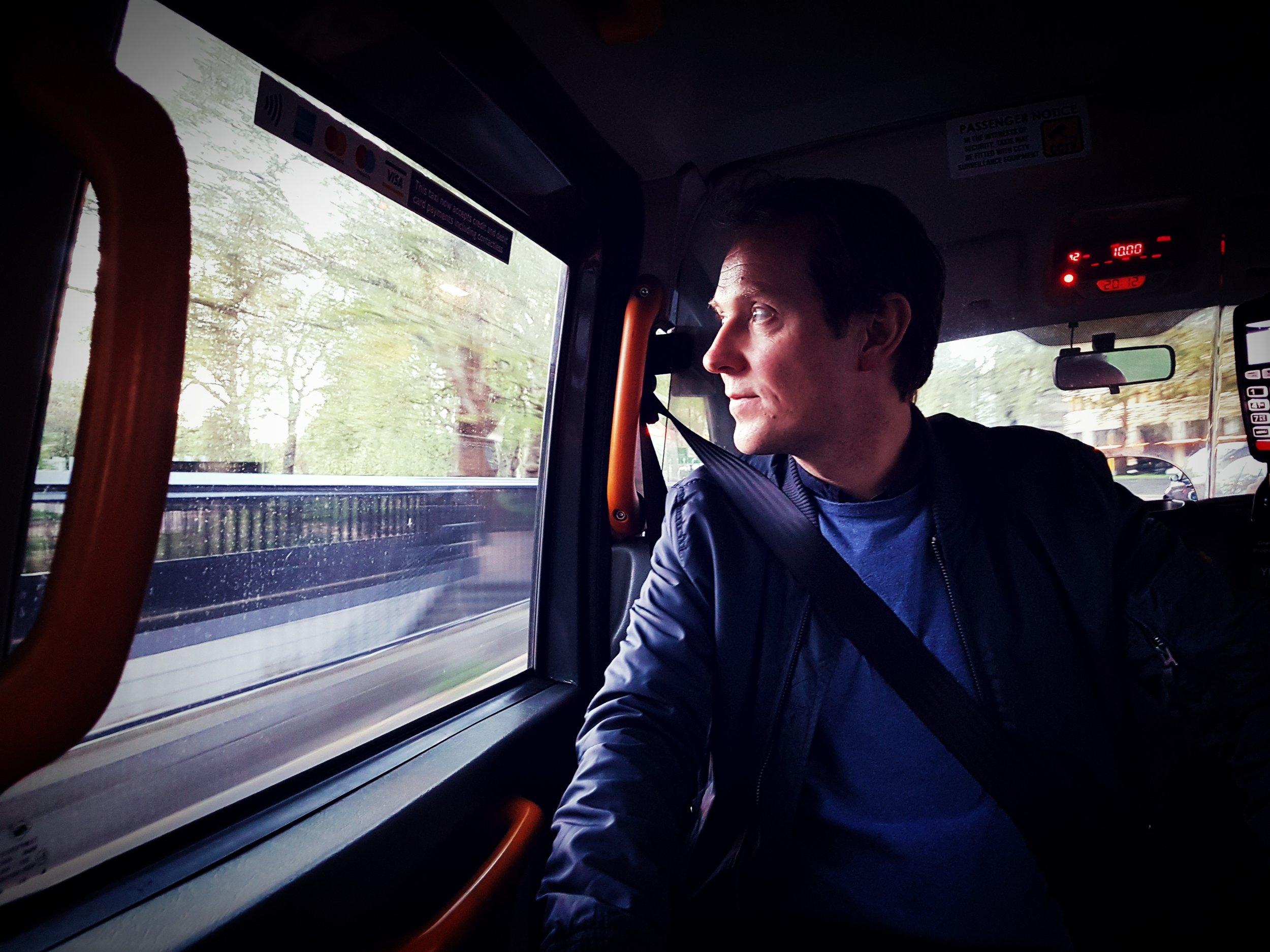 Gisle Østrem on his way to Abbey Road Studios, London