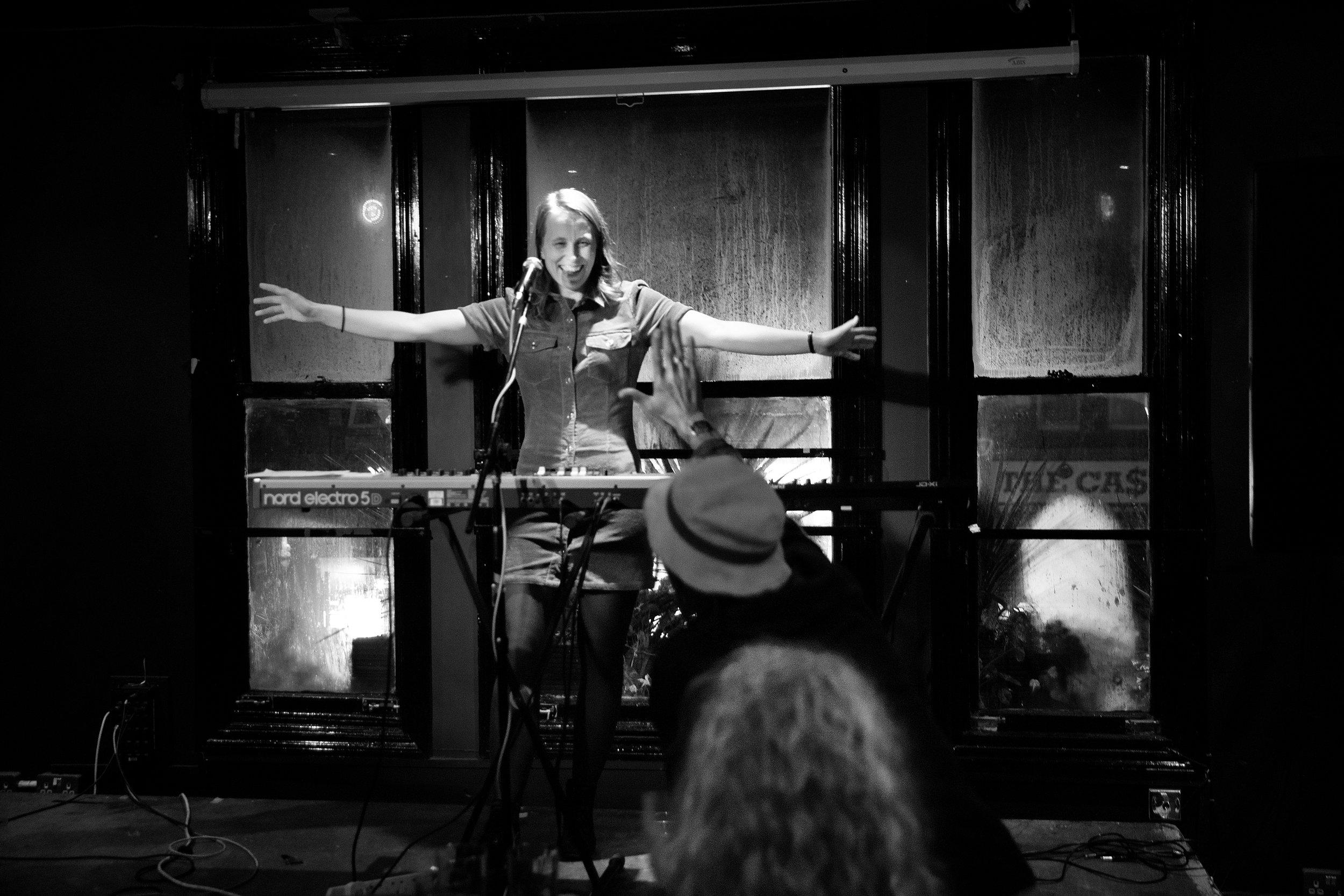 Cecilie Anna live at Dulcimer Bar, Chorlton Manchester, September 28. 2019 Photo: Paal Audestad