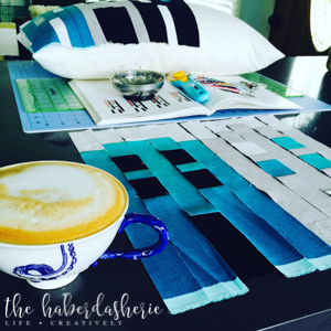 i often enjoy a cuppa while quilting • two of my fav things!
