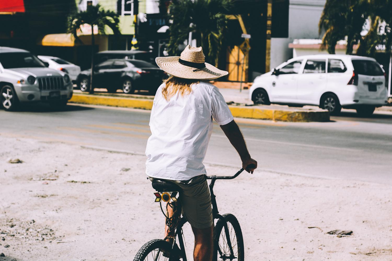 Biker in Tulum