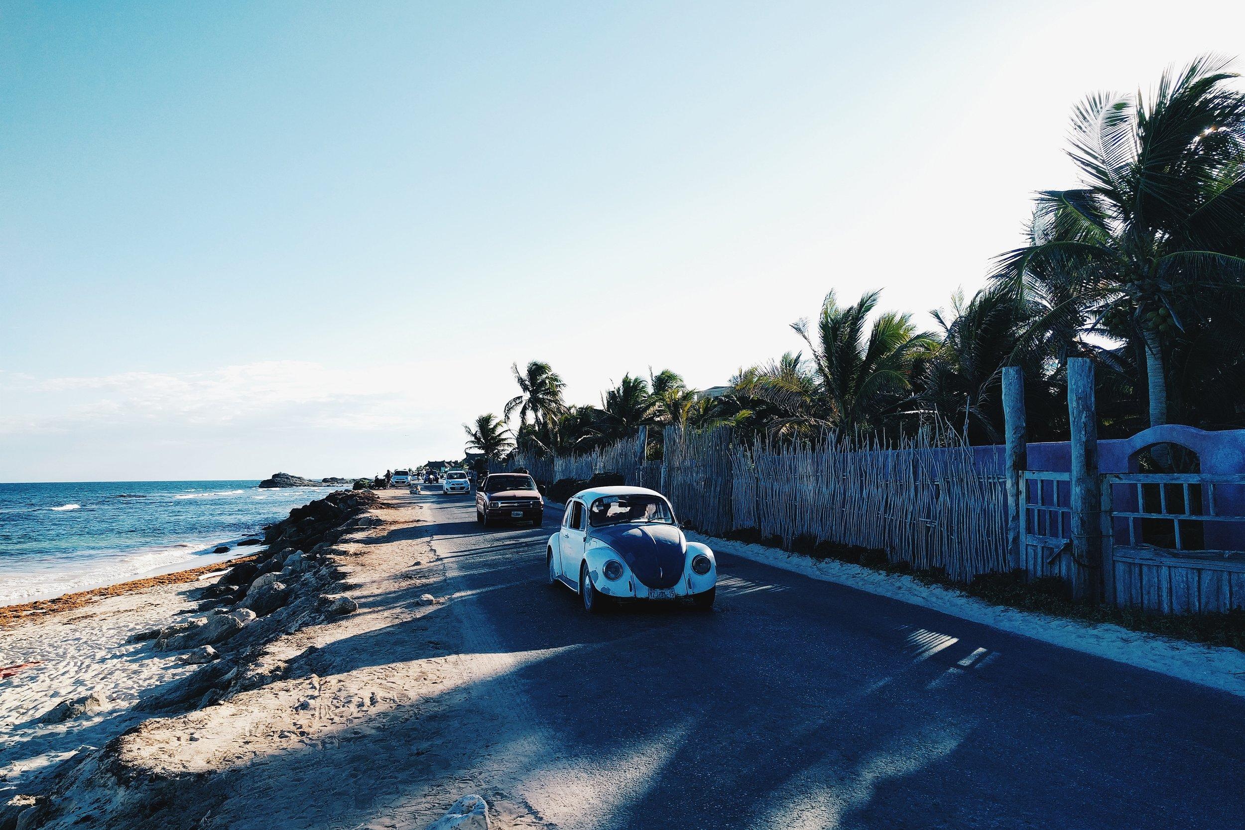 Tulum coast car