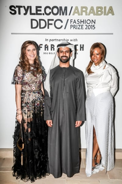 Pictured here with Khalid Al Tayer CEO of Al Tayer Group and Stephanie Horton Chief Marketing Officer of Farfetch.com Click on the image to see more photos from the event
