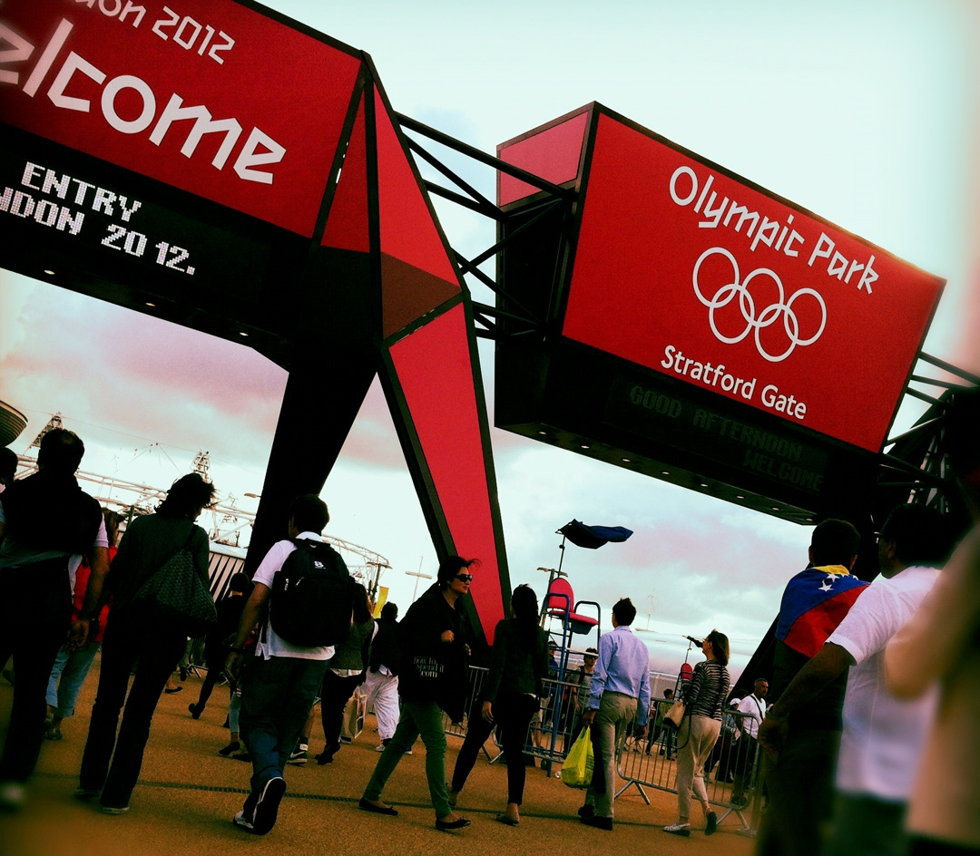 The entrance to Olympic Park