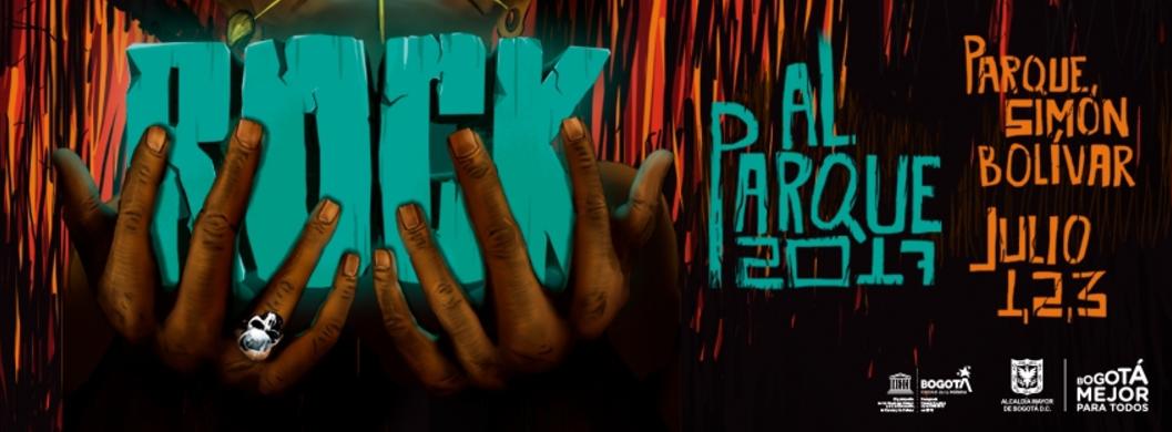 3° Banda Distrital - Banda colombiana de rockeros que mezclan fuertes guitarras metaleras con ritmos de hip-hop y percusión latina para crear una ingeniosa mezcla de rap y rock que entrega fuertes mensajes jocosos, críticos y reflexivos. Creó un show en vivo que estalla tan fuerte como su música; integran un vestuario y escenografía chamánica con unas altas dosis de energía y poder rockero. Por primera vez llegan a #RockAlParque2017