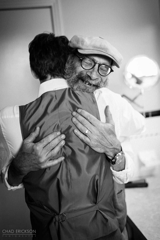 Hugging photo