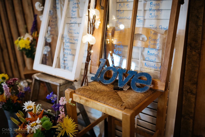 Cute reception details