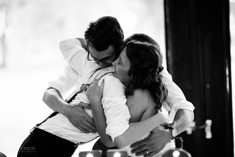 Touching wedding photograph