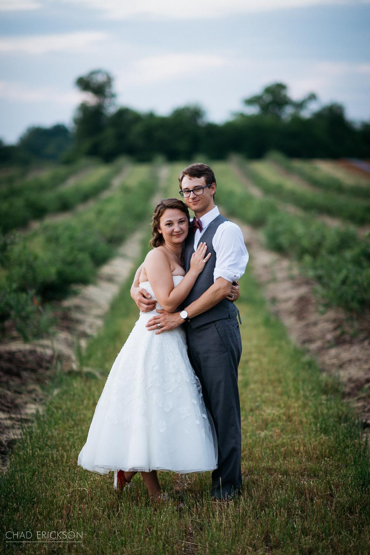 Cute wedding portrait at The Grove field