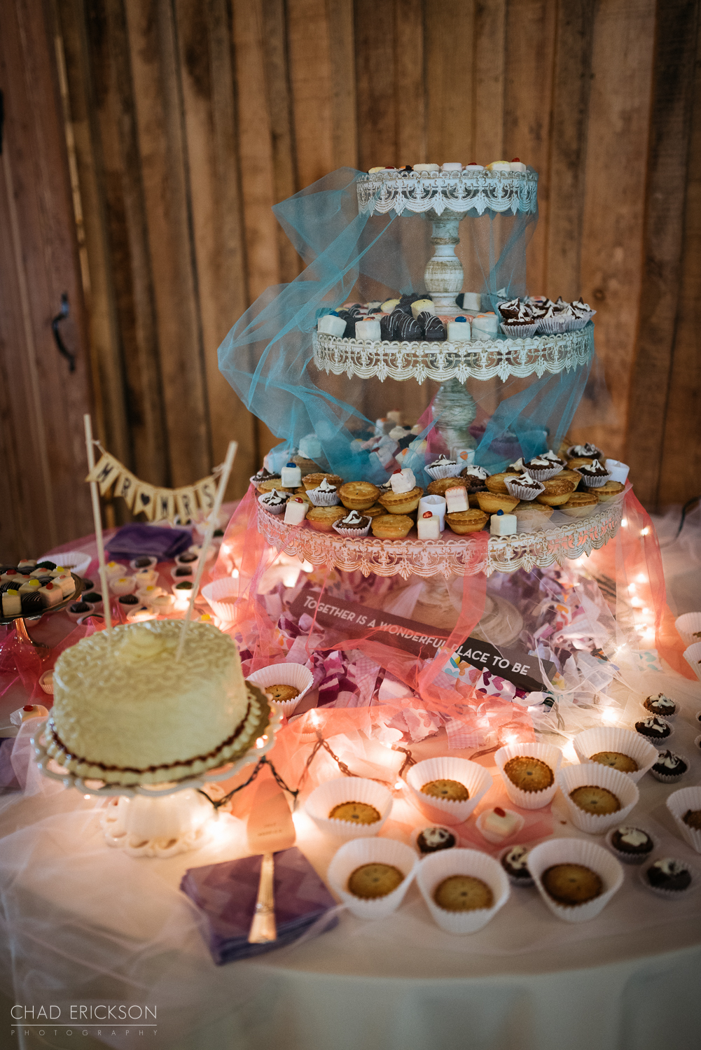 Cake and deserts table