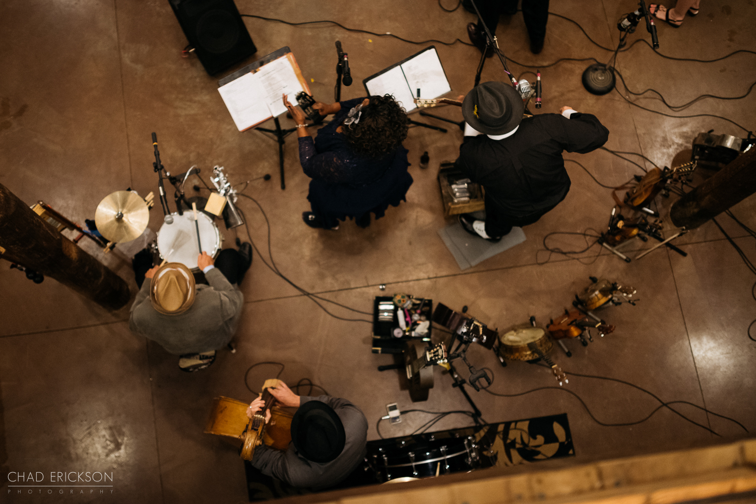 Reception band from above