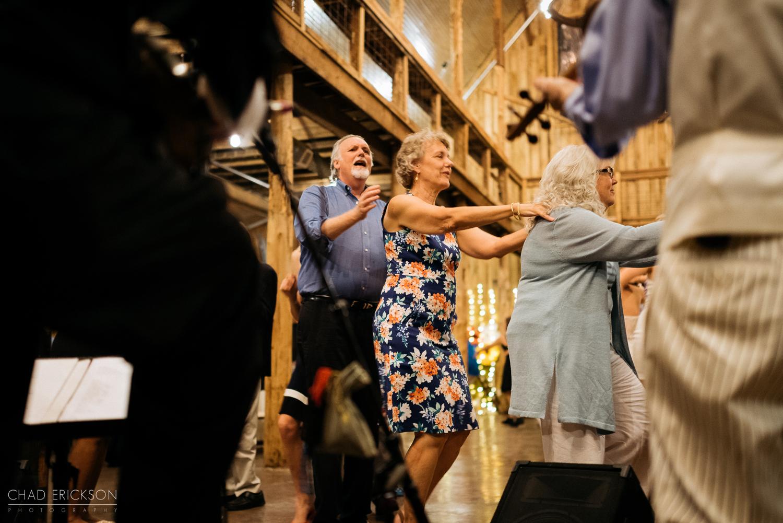 Dancing in a line