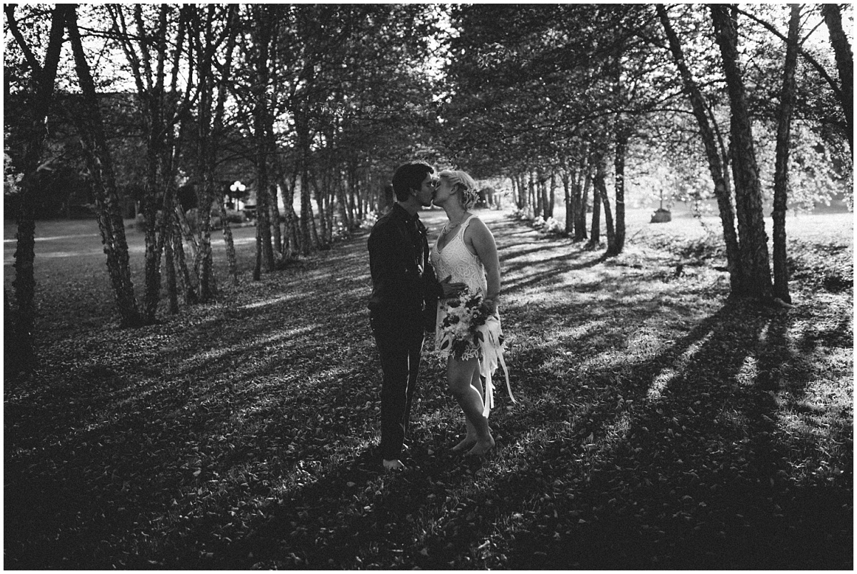 Kissing under McGuire's trees