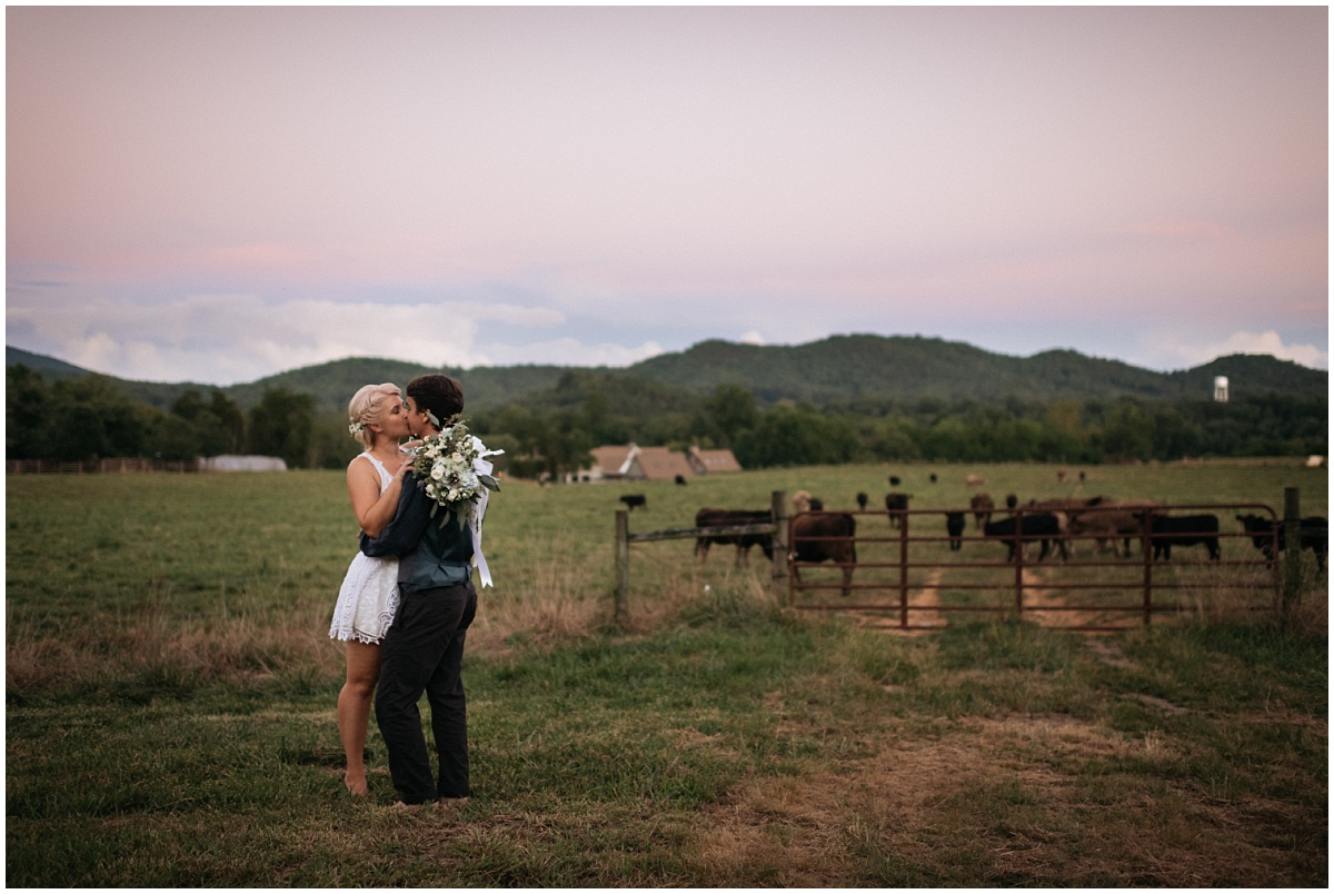Epic wedding photograph in Western NC