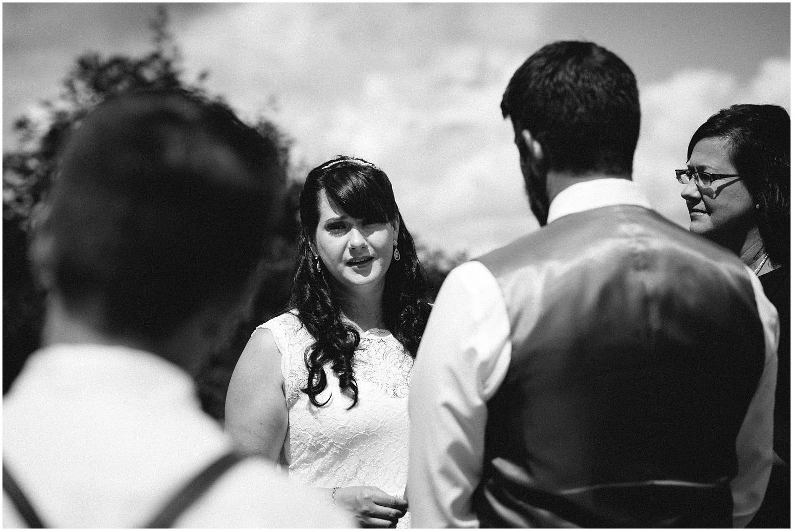 Vows photograph on Wayah Bald