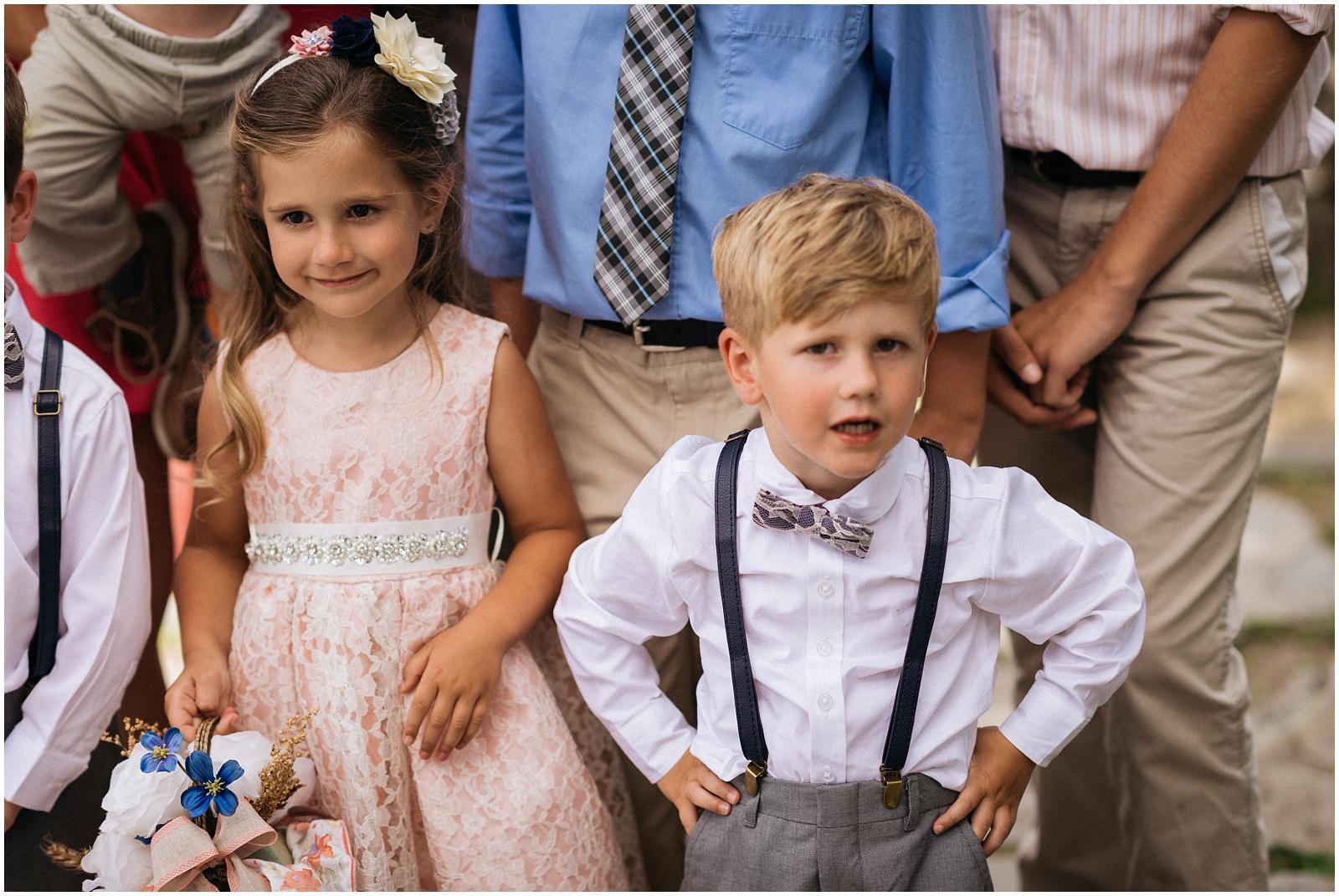 Children wedding candid