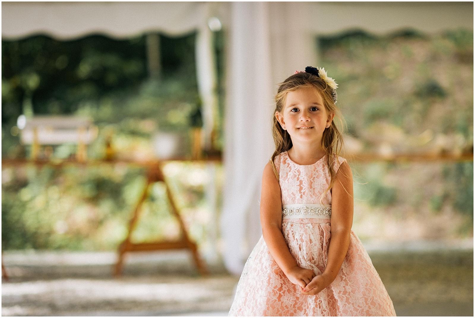Flower girl at nantahala wedding in WNC