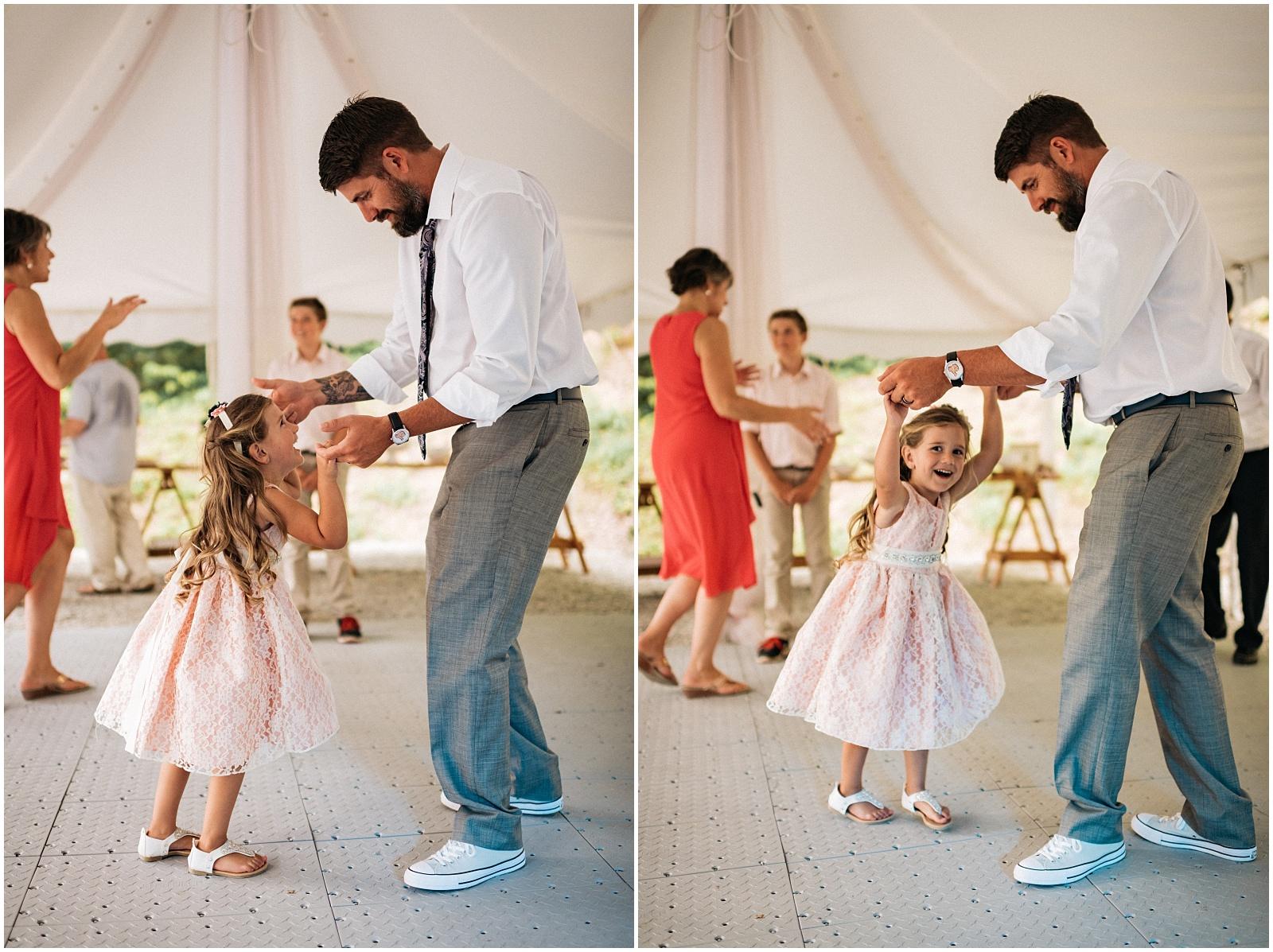 Dancing collage for Nantahala weddings
