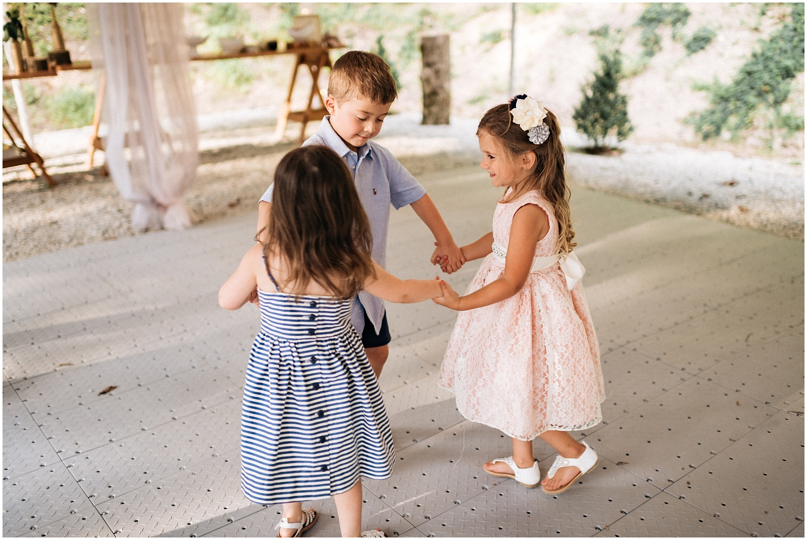 Kids dancing in a circle